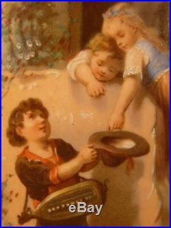 1800 French Sevres Moustiers Parages Enamel Paint Faience Portrait Fernery Vase