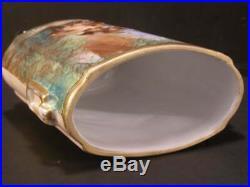 1800 French Sevres Moustiers Parages Enamel Paint Faience Portrait Plaque Vase