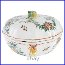 19th C. French Faience Porcelain Covered Tureen