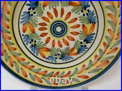19th C. H R Quimper French Faience Salt Glaze Pottery 9 Plate (#1)