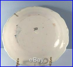 19th Century Antique Quimper French Faience HB Plate Man Toasting with Glass