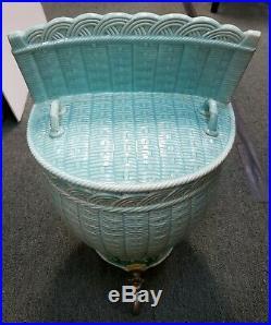 19th Century French Creil-Montereau Faience Porcelain Basket Weave Lavabo/Basin