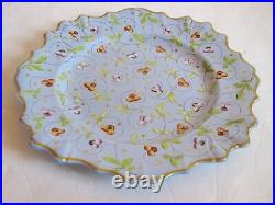 19th Century French Faience Plate 9.87 Mint Antique Condition