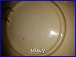 2 Antique French Luneville Faience France et Russie plates for Russian market