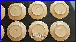 8 antique HB Henriot Quimper plate (s) croisille, vintage french faience