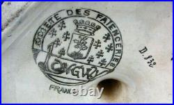 ANTIQUE LONGWY CENTERPIECE TAZZA 3 HANDLES VERY LARGE c. 1920