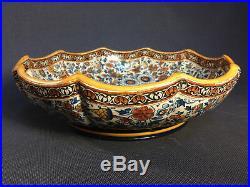 Ancien Saladier plat creux en faïence de GIEN vintage céramique french antique