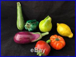 Anciens Fruits et Légumes en Faience Antique French Vegetable Ceramic Lot Ensemb