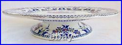 Antique 1800s Gien French Faience Cake Stand 9.75 Excellent Antique Condition