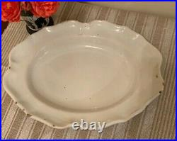 Antique 18th Century French Creamware Faience Platter Tray