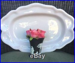 Antique 18th Century French Faience Creamware White Tin Glazed Platter