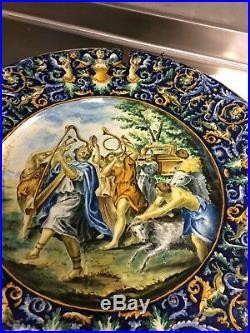 Antique 18th century french faience charger stunning. Great condition
