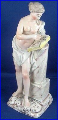 Antique 18thC French Faience Nude Lady Figurine Figure France Fayence Figur