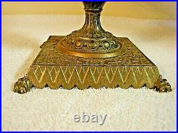 Antique 19th Century French Bronze and Porcelain Faience Tazza