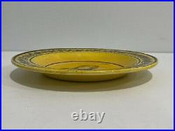 Antique 19th Century French Yellow Faience Pottery Louis XVIII Portrait Plate