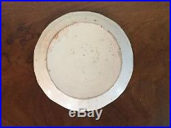 Antique 19th c. French Revolution Faience Tin Glaze Pottery Delft Plate Armorial
