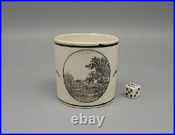 Antique 19thC French Empire Period Faience Coffee Can Possibly Criel circa 1810