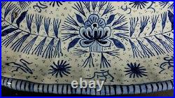 Antique 19thC French Faience St CLEMENT Keller & Guerin Divided Dish Delft Blue