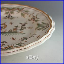 Antique De Moustiers French Faience Plate Joseph Olery Mark