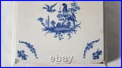 Antique Delft /faience/pos French Blue And White Wild Game Grouse/ Pheasant