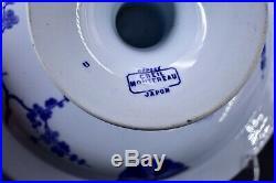 Antique Depose Creil Montereau Faience Japon Japanese 11 Pedestal Bowl Compote
