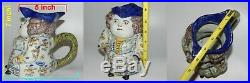 Antique Desvres French Faience Figural Tavern Jug Toby Made in France