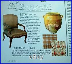 Antique Faience French Confit Pottery Glazed Terracotta Cruche Pitcher Blue Pot