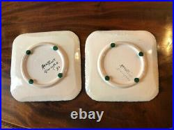 Antique Faience French Henriot Corbeille Quimper 1930 -MAN WOMAN CUPS AND SAUCER