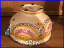 Antique Faience French Henriot Corbeille Quimper 1930 -small tureen
