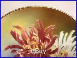 Antique French Art Nouveau Floral Wall Plaque c. 1870-80 Faience Majolica