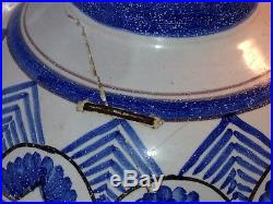 Antique French Blue & White Faience