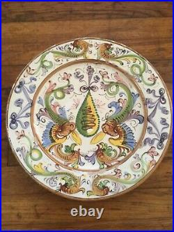 Antique French Faience 19th Century 13.5 Charger Plate