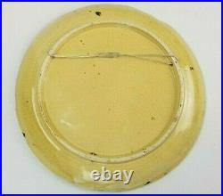 Antique French Faience Art Pottery Charger Plate Plaque Attrib. To EMILE GALLE