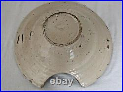 Antique French Faience Barbers Bowl, Shaving Bowl, Circa 1820 Has Staples