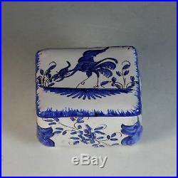 Antique French Faience Box with Lid