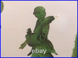 Antique French Faience Chinoiserie Plate c. 1800's Chinaman Holding Dove