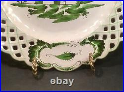 Antique French Faience Chinoiserie Plate c. 1800's Chinaman Holding Pipe