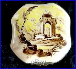 Antique French Faience Enamel Snuff Box Marseille Veuve Perrin