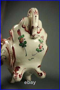Antique French Faience Hand Painted Planter Jardiniere Centerpiece Luneville