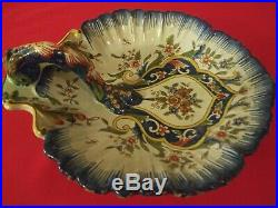Antique French Faience Handled Tray
