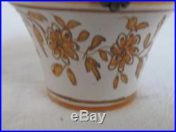 Antique French Faience Jar hand painted Creme