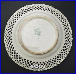 Antique French Faience Lille Lattice Edge 1767 Mark Plate A