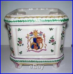 Antique French Faience Paul Hannong Cache Pot circa 1740
