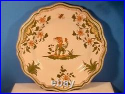 Antique French Faience Plate Grotesque Moustiers Wall Plate