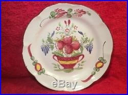 Antique French Faience Plate Home Decor Display Plate Flowers in Planter Plate