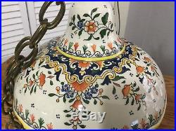 Antique French Faience Porcelain Birdcage