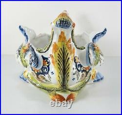 Antique French Faience Porcelain Centerpiece Jardiniere Planter Henri Delcourt