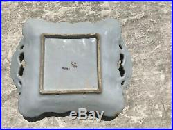 Antique French Faience Porcelain Tray Hand Painted Made in France Numbered