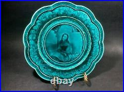 Antique French Faience Portriat Plate by Rubelles, France 1800's