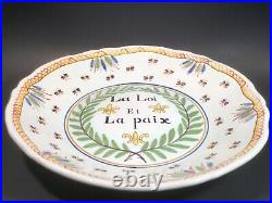 Antique French Faience Revolutionary Plate c. 1800's